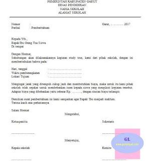 contoh surat edaran sekolah tentang pemberitahuan pelaksanaan study tour