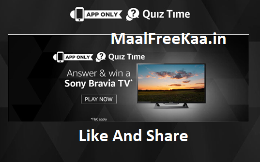 Quiz Time Win Sony Bravia 4K UHD LED Smart TV - Freebie