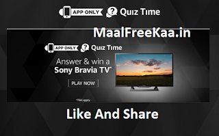 Quiz Time Sony Bravia