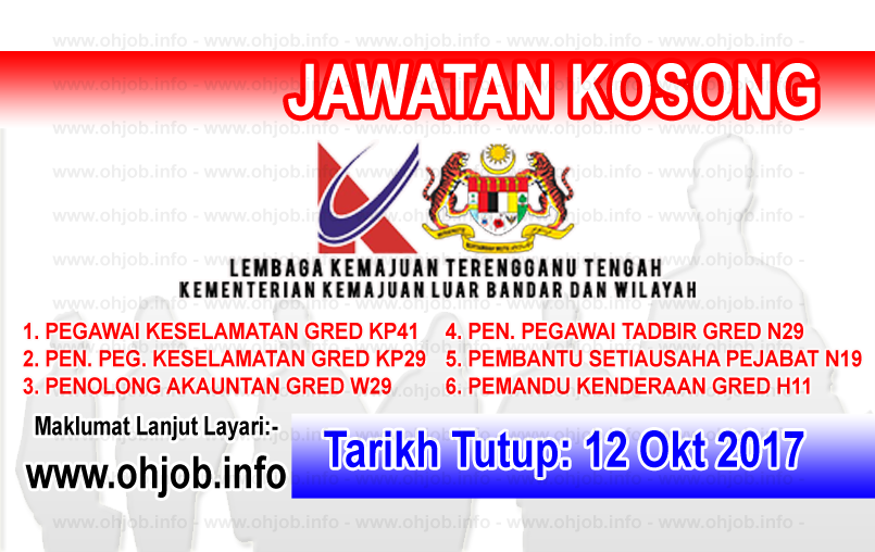 Jawatan Kerja Kosong KETENGAH - Lembaga Kemajuan Terengganu Tengah logo www.ohjob.info oktober 2017