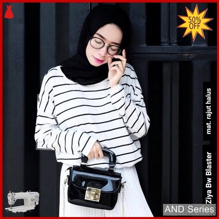 AND200 Sweater Wanita Ziya Bw Blaster Rajut BMGShop