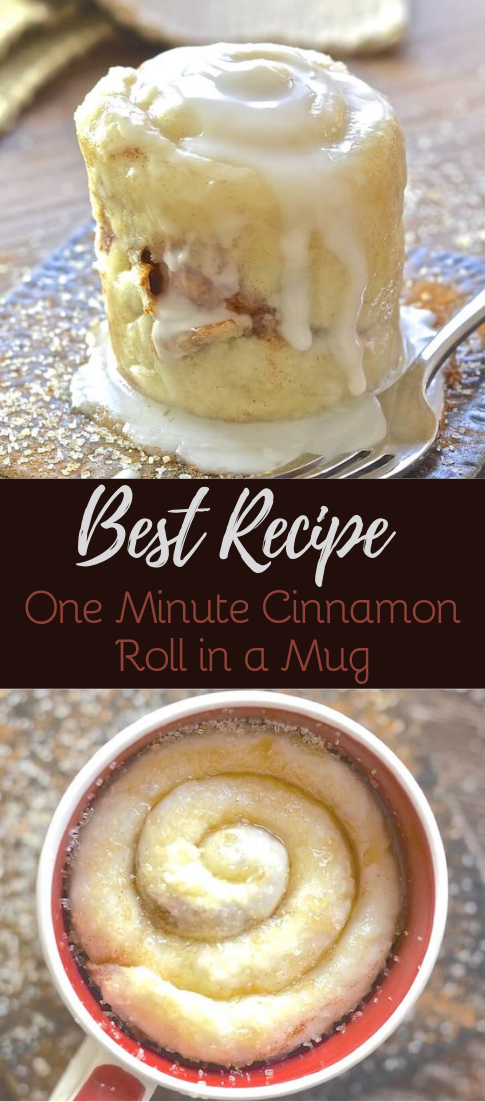 One Minute Cinnamon Roll in a Mug #desserts #cakerecipe