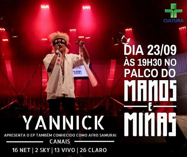 Yannick é a atração do próximo Manos e Minas