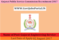 Gujarat Public Service Commission Recruitment 2017– 245 Gujarat Engineering Service
