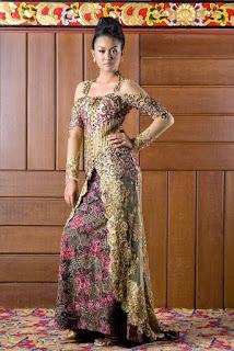 Gaun Kebaya Batik Pesta Elegan