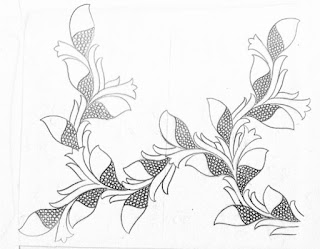 Flowers design patterns pencil sketch on tracing paper for hand emroidery saree design.hand work design paper Drawings on paper for embrodiary design