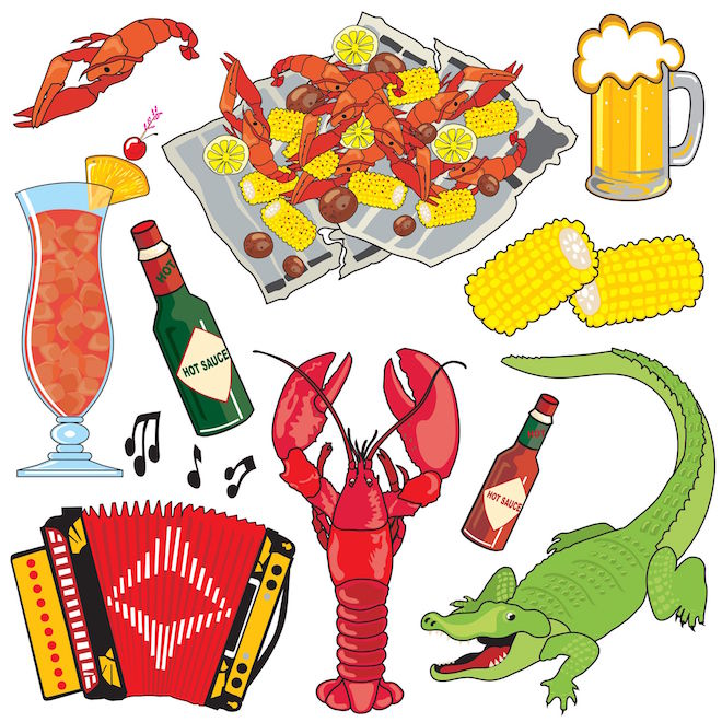 the rich diversity of louisiana s creole and cajun cuisine grapes   grains Jazz Festival Clip Art Jazz Silhouettes Clip Art