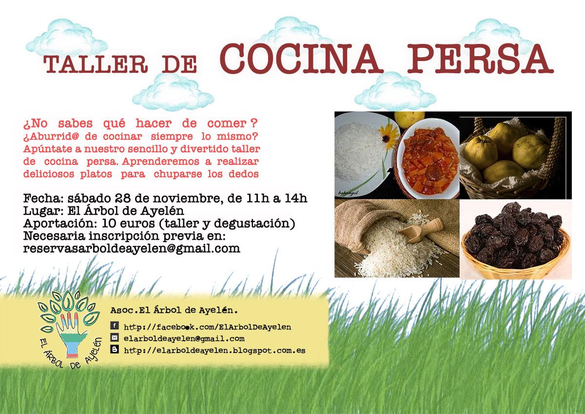 EL ÁRBOL DE AYELÉN Espacio para crecer: Taller de cocina persa, 28 ...