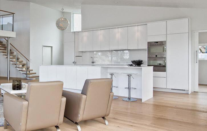 Cocinas en blanco total cocinas con estilo for Cocinas modernas blancas precios