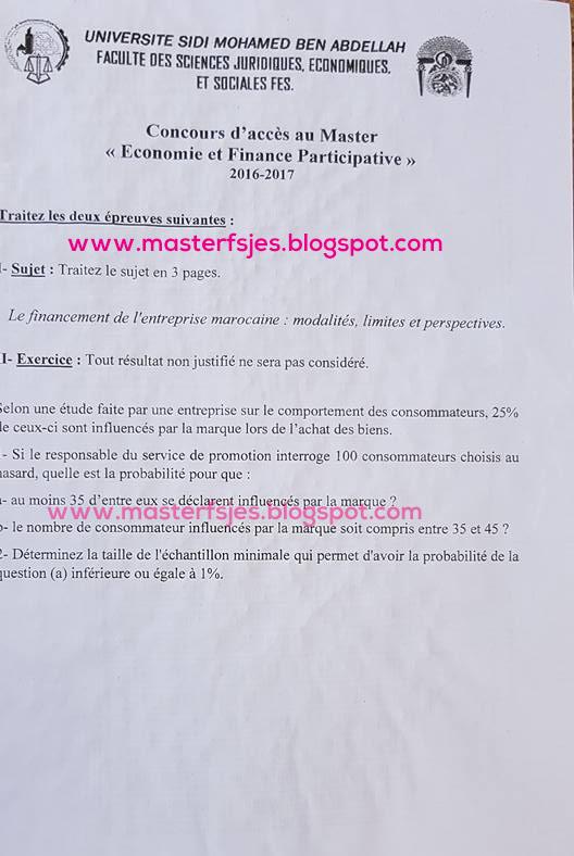 Master Economie et Finance Participative