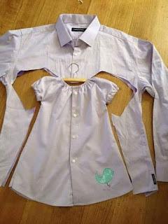 Long sleeved shirt to baby nightwear
