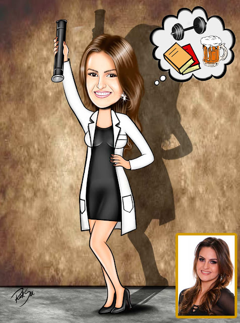 #caricaturando #ilustração #medicina #formanda #evento #brindes #canecas #convites #camisetas