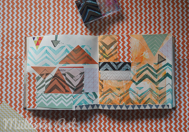 Dreiecks-Collagen, Sketchbook ©muellerinart