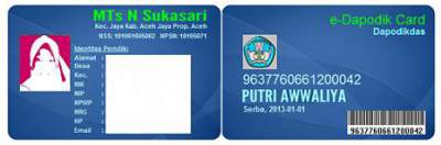 Aplikasi Cetak Kartu E-Dapodik Card