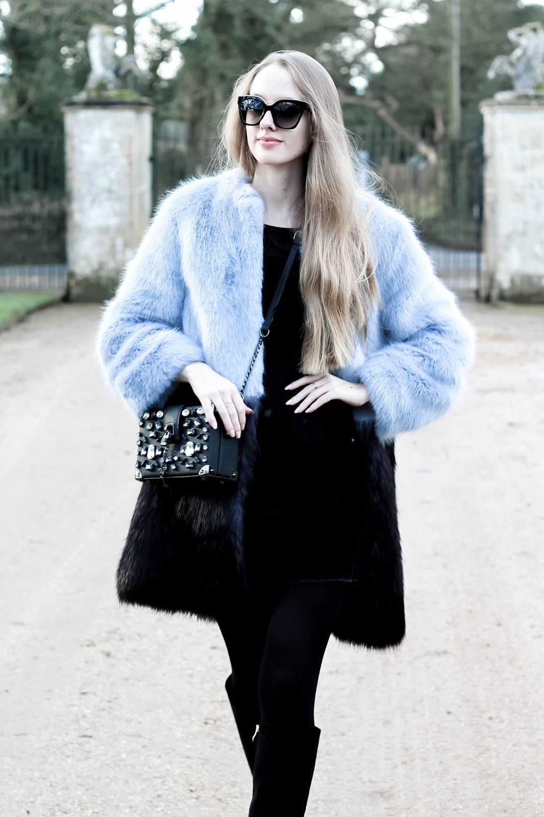 Styling Long Colourful Faux Fur Coat