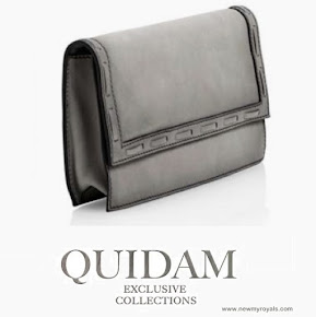 Crown Princess Mary Style Quidam Alligator Clutch grey