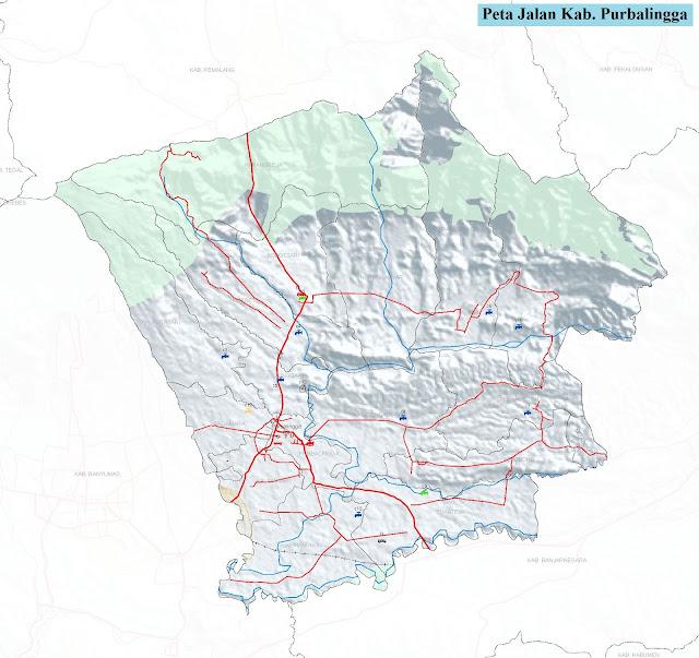 Peta Kabupaten Purbalingga HD
