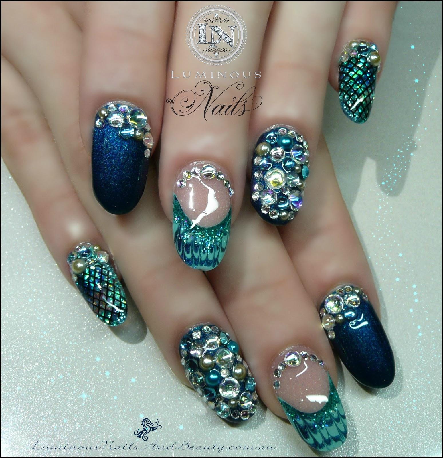 Mermaid Nail Art Acrylic Nails: Luminous Nails: May 2013