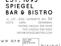 Lowongan Kerja di Spiegel Bar & Bistro - Semarang (Bartender, Waiter / Waitress, Pastry / Baker, Cook Helper)