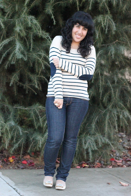 Striped Sweater and Jeans