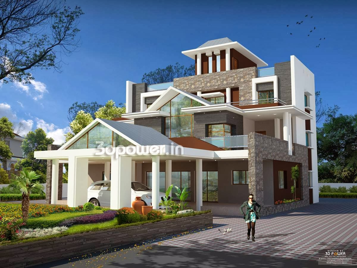 House 3D Interior Exterior Design Rendering