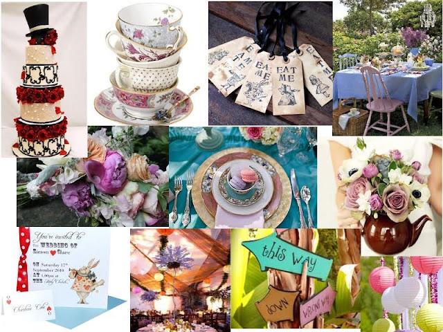 Strawberry Soufflé Weddings: An Alice In Wonderland Wedding