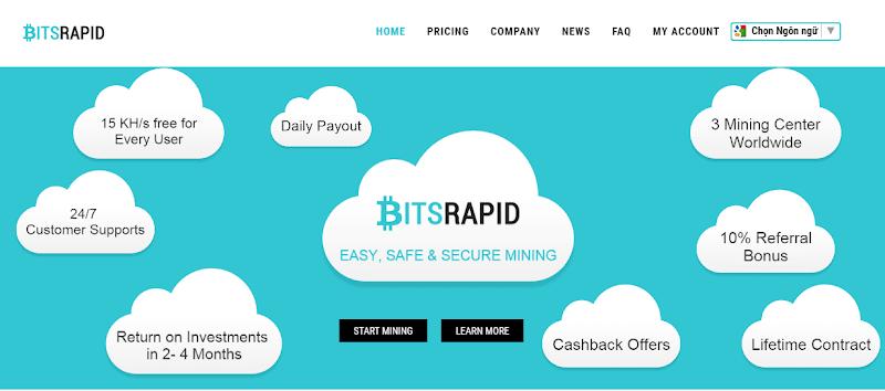 [SCAM] Hướng dẫn Đào Bitcoin BTC với BitsRapid - 27.50% Monthly ROI BTC