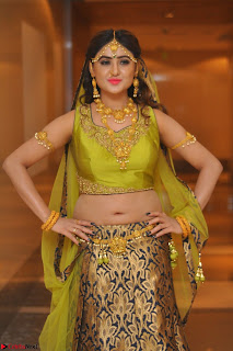Sony Charishta in Green Choli Ghagra Transparent Chunni Ethnic Wear March 2017 035.JPG
