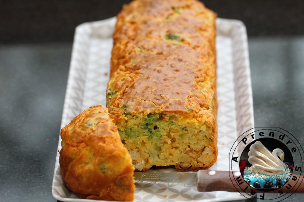 Cake poulet brocolis mimolette