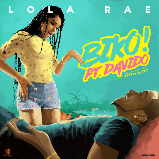 Lola Rae and Davido BIKO