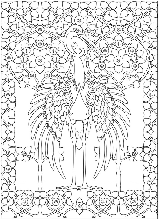 Art Nouveau Animals Coloring Book | Coloring Pages