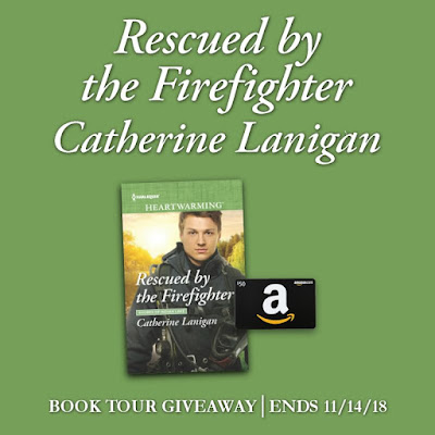 Rescued by the Firefighter tour giveaway book and gift card--ends 11/14/18
