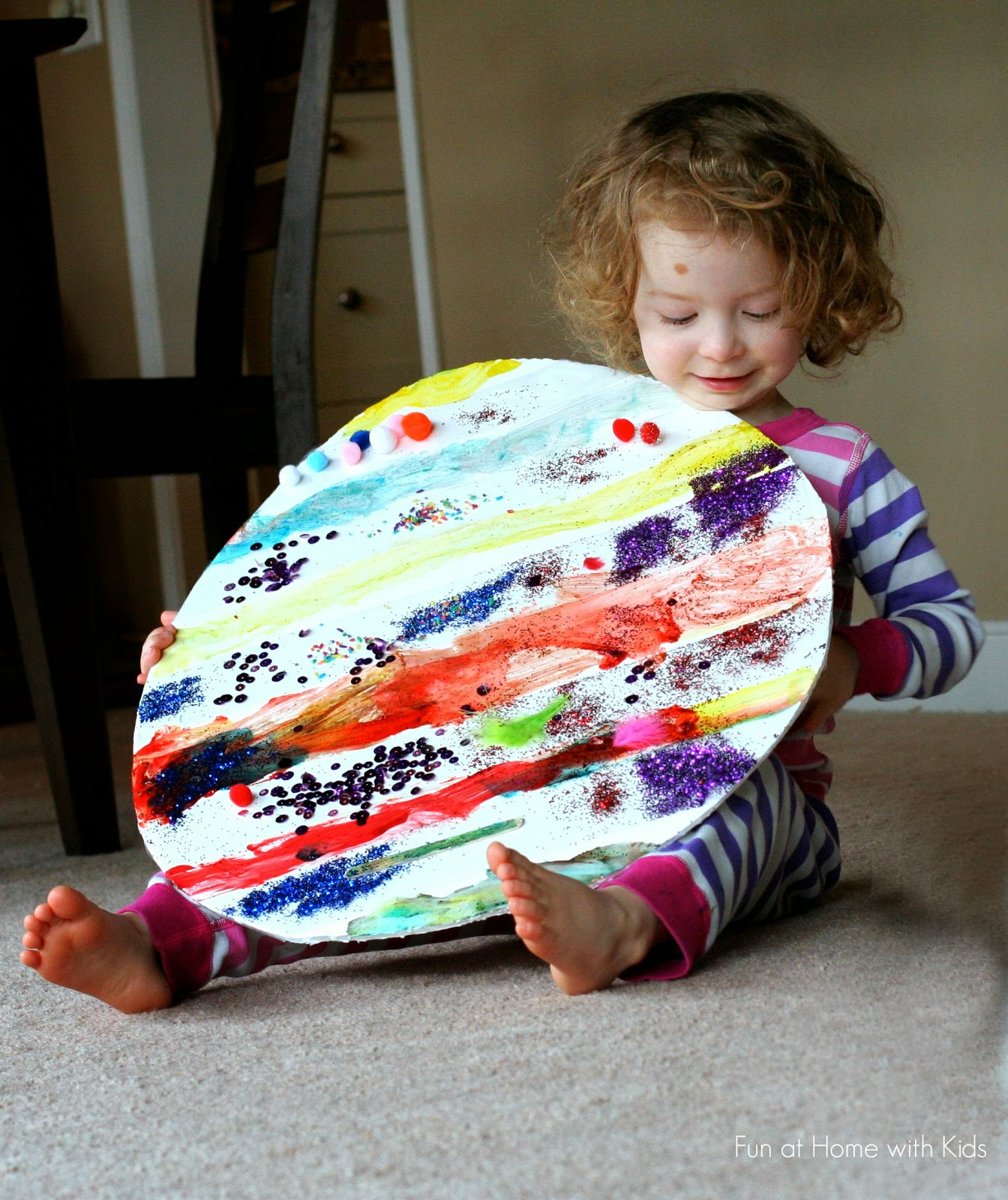 Giant Easter Egg Art from Fun at Home with Kids