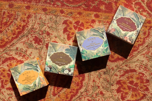 Kama Ayurveda Limited Edition Turmeric/Haldi, Coconut/Nariyal, Basil/Tulsi, and Chandan/Sandalwood Soap