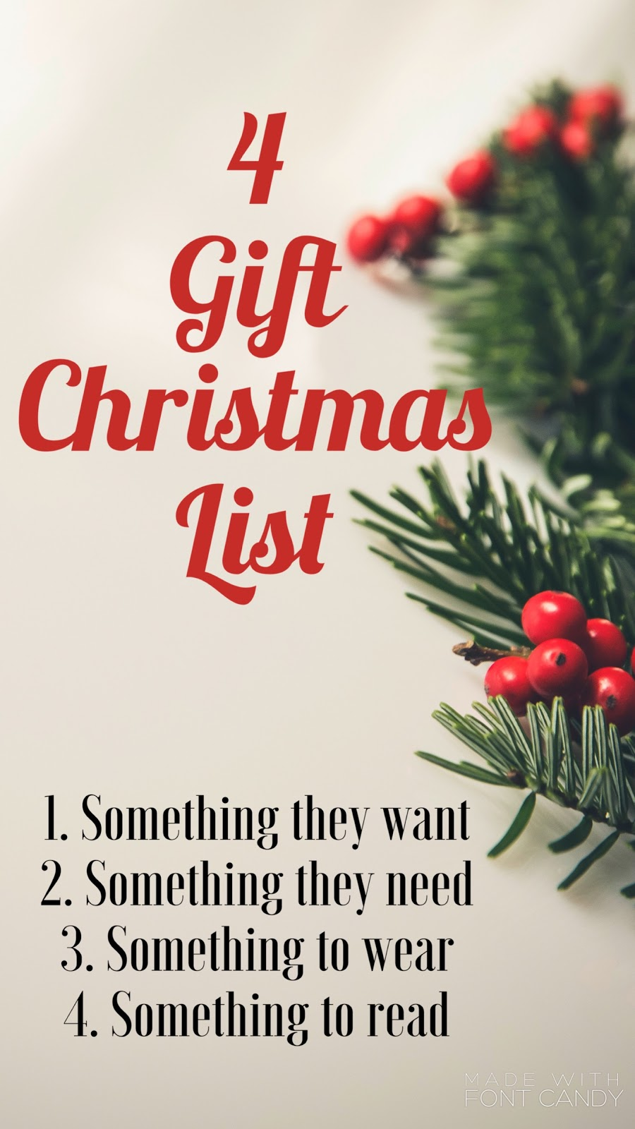 Something they want & need, something to wear & read.   Kids christmas list, Easy christmas ...