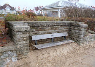 The seafront bench in Felixstowe as it was on the 15th December 2013