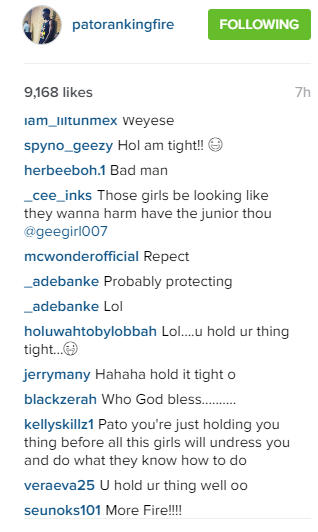 b Patoranking shares photo on Instagram, See fans reaction