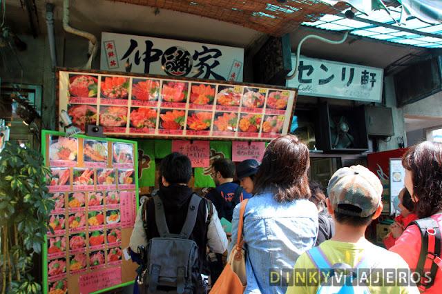 Bares de shushi en Tsukiji
