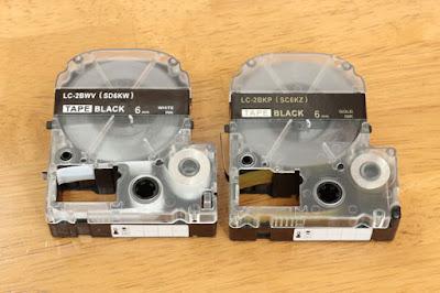 キングジム テプラPro用 テープカートリッジ SC6KW/SC6KZ(強粘着タイプ) 〔互換〕