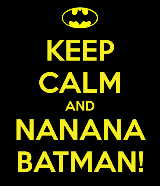 Rótulo Keep Calm de Batman.