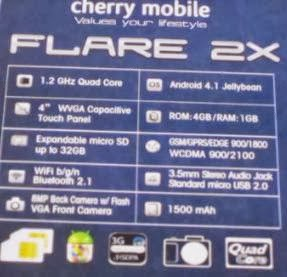 Cherry Mobile Flare 2X two times more power is now available for the price of 4499