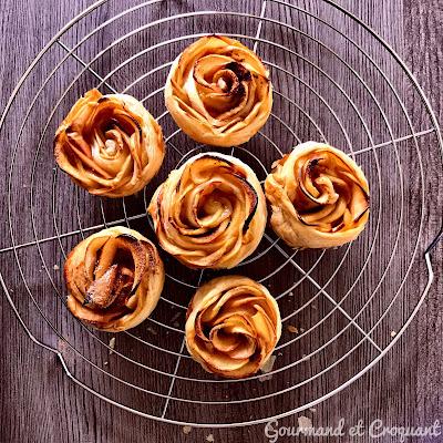 Tarte-tartelette-pomme-forme-roses