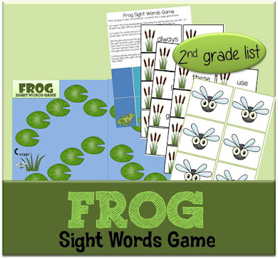 Frog Sight Words Game - 2nd grade list