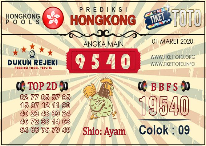 Prediksi Togel HONGKONG TIKETTOTO 01 MARET 2020