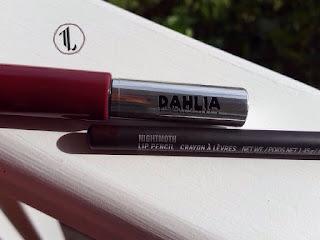 Pretty Zombie Cosmetics 'Dahlia' + M.A.C 'Nightmoth' lip liner www.modenmakeup.com