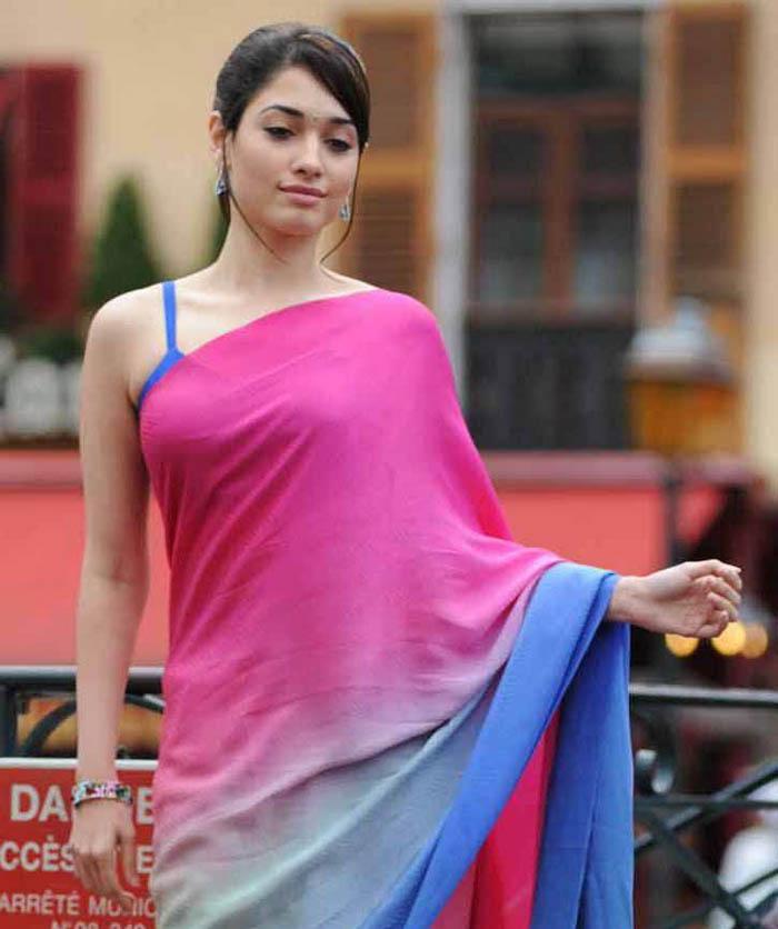 Tamanna In Saree In Rebel: Tamanna New Hot Saree Photos Gallery