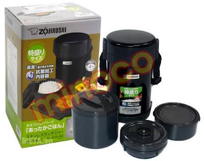 Cặp lồng cơm giữ nhiệt Zojirushi SL-XD20 có 3 ngăn đựng cơm