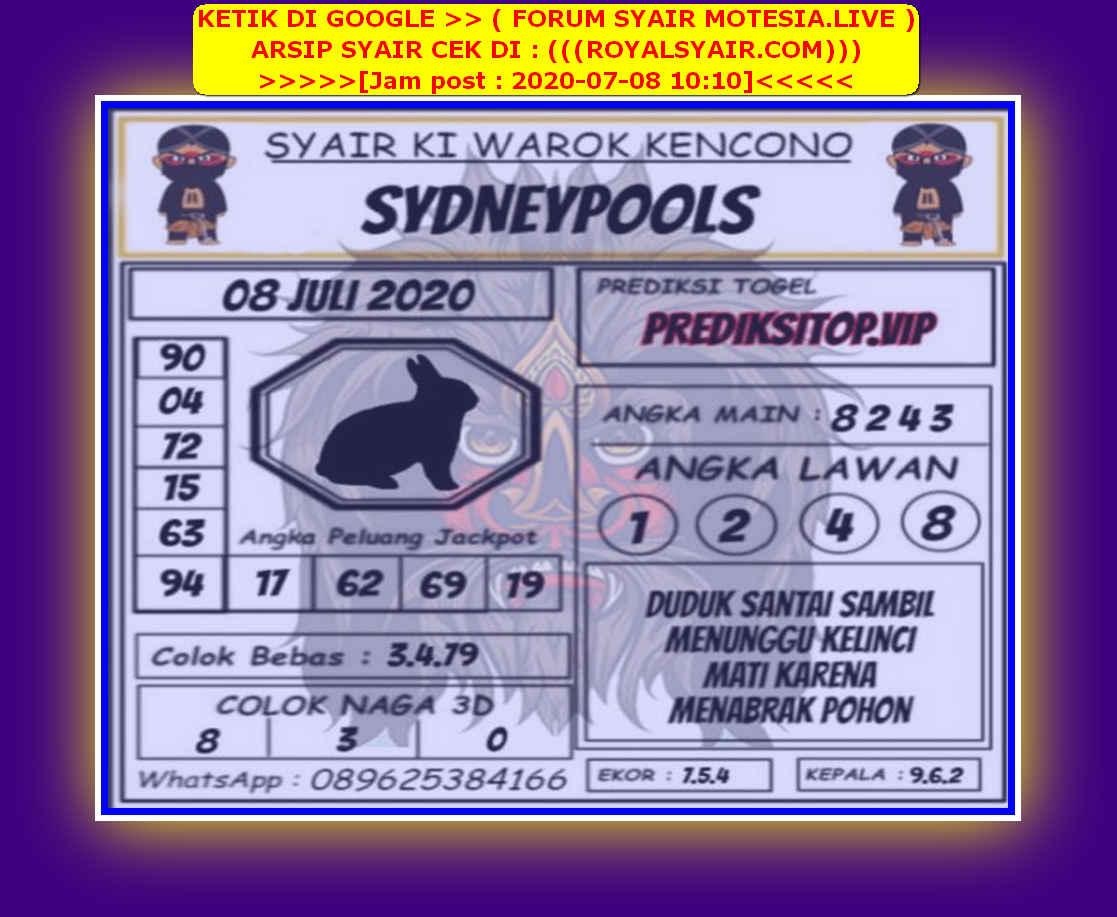 Kode syair Sydney Rabu 8 Juli 2020 115