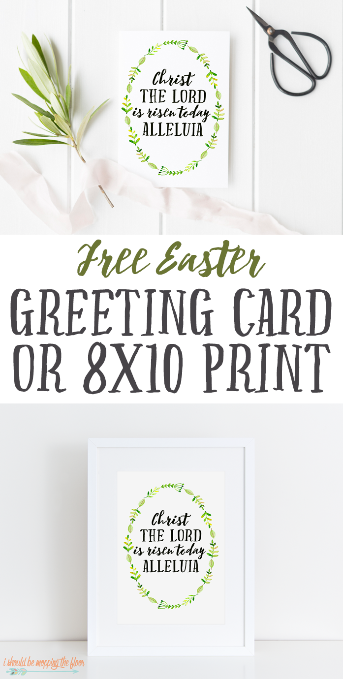 Free Printable Watercolor Easter Print: Available in a Greeting Card or 8x10 Printable