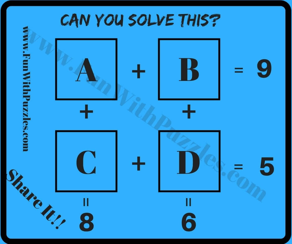 Easy Mathematical Puzzle Questions with Answers for students - Fun ...